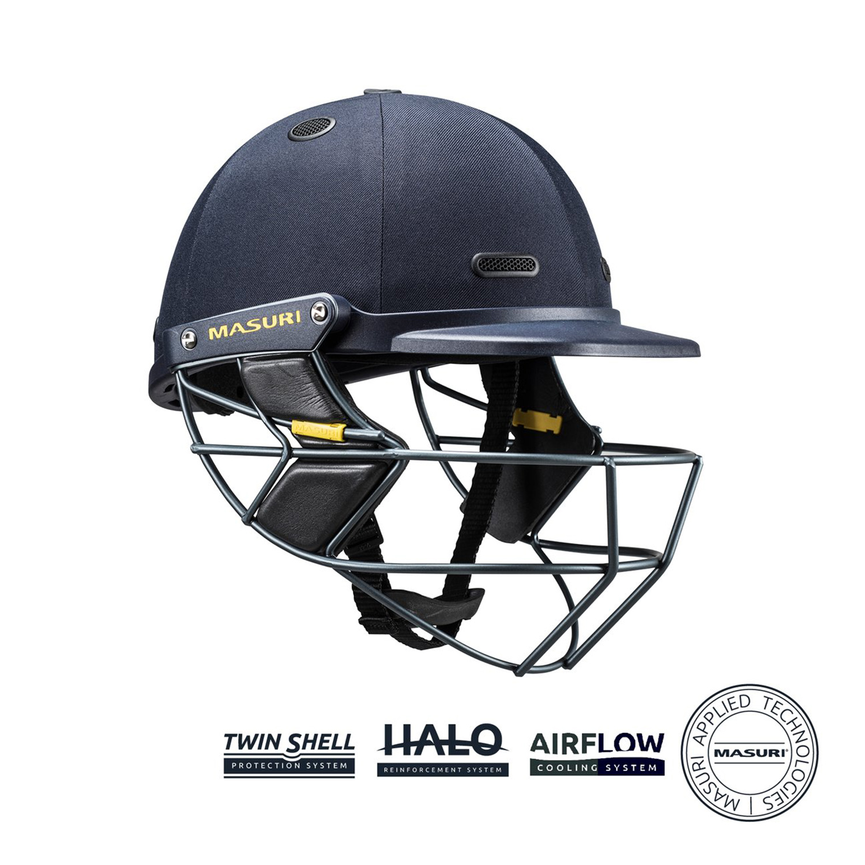 2018 Masuri Original Series MKII Green Cricket Helmet Steel Grill